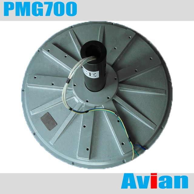 PMG700 5kw 100RPM disc coreless Low RPM Wind Generator/Alternator three Phase Permanent Magnet Alternator Generator