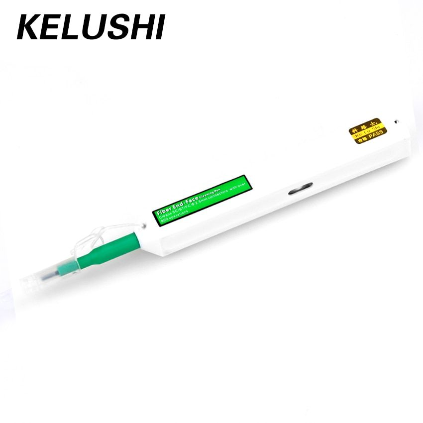 KELUSHI SC One-click Cleaner Fiber Optic Cleaner Connector cleaning tool 2.5mm Universal Connector Fiber Optic Cleaning Pen