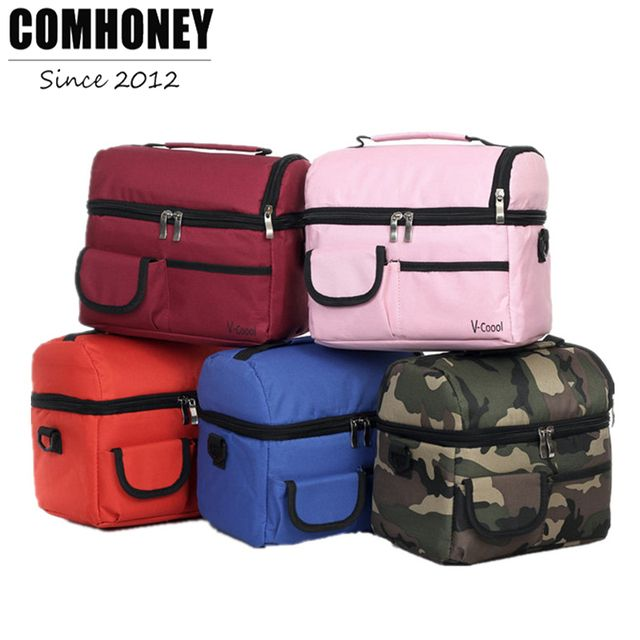 Cooler Bags Thermal for Lunch Camouflage Ice Pack Women Picnic Storage Bags Canvas Aluminum Foil Folding Insulation Food Bags