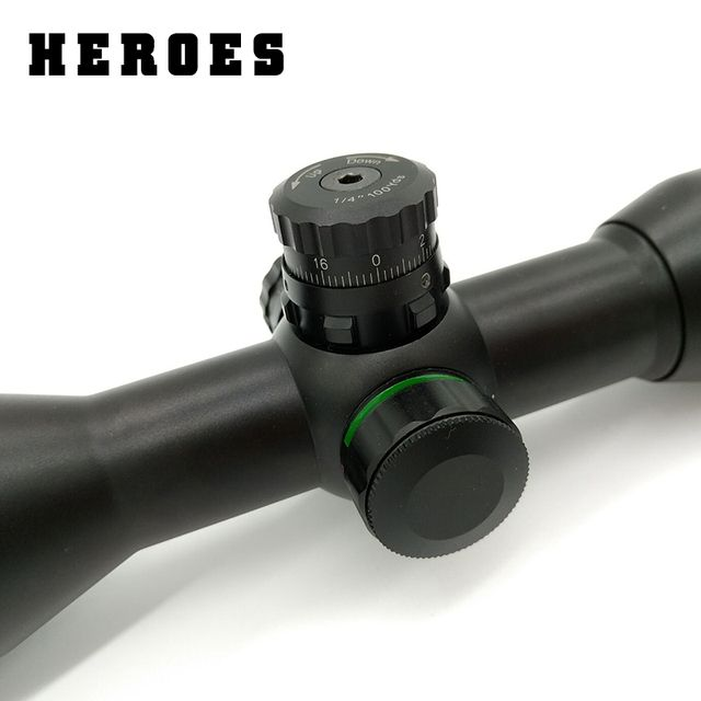 Heroes hunting 6X32  Riflescope red green cross reticle optical scope sight for rifle with 11mm or 20mm ring