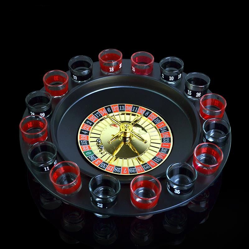 Creative Russia Drinking turntable Shot Glass Roulette Set Novelty Drinking Game with 16 Shot Glasses Party supplies
