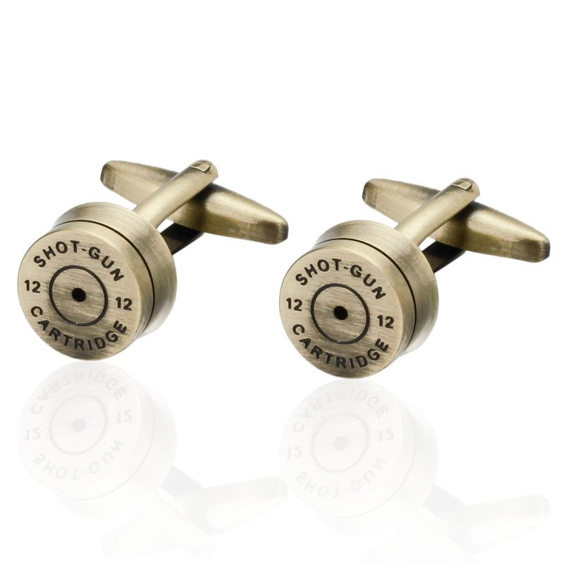 Promotion Bullet Design Cuff links for Mes New Fashion Gold Color Plated Bullet Style Best Gift For Men 3 pair pack sale