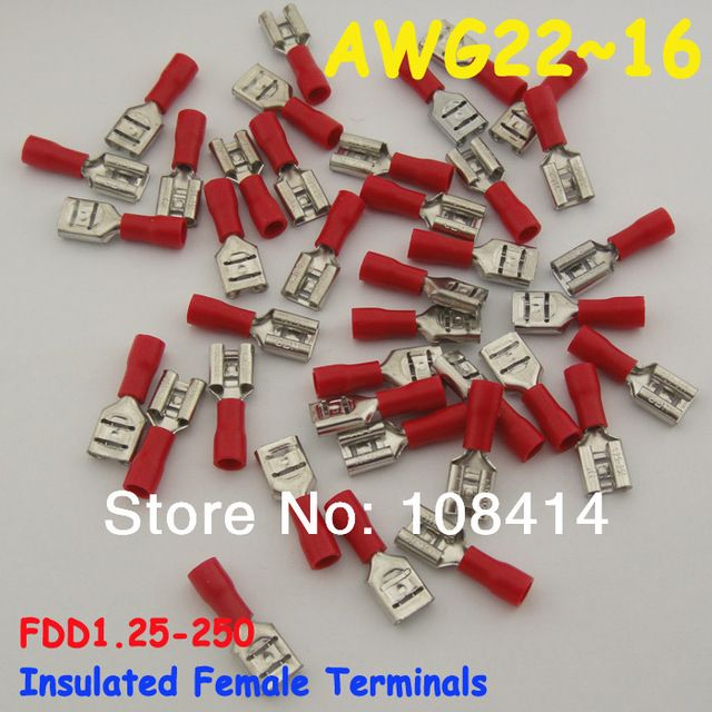 Lead Selection 22~16AWG Solderless Female Insulated Crimp Terminal and Connectors, FREE SHIPPING