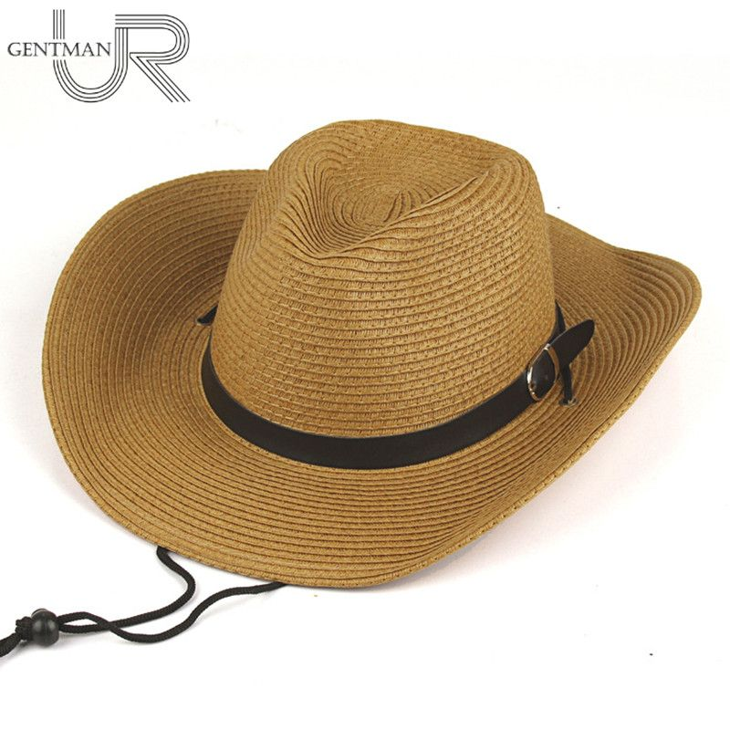 Men And Woman Summer Sun Hat Straw Cowboy Hat Folding Beach Hat Fashion Large Brimmed Sun Cap Bucket 4 Colors Hat