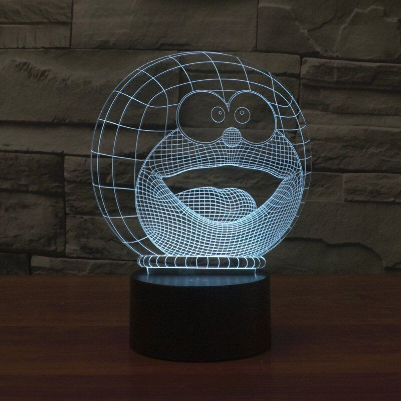Cartoon Face 3D Visual LED Night Lights for Kid Switch Light USB Charger Table Lamps as Besides Lamp Baby Sleeping Night lights