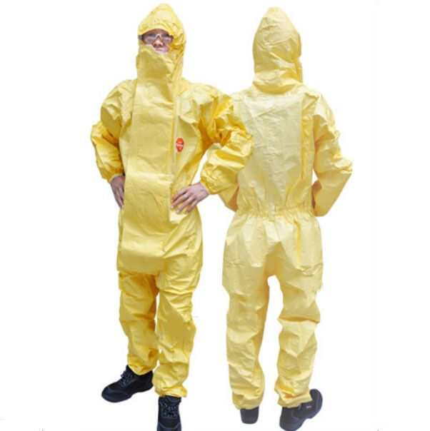 Dupont Tychem C Protective Coverall Comfortable/Lightweight Protect Against Biohazards and Chemicals Type 3-B, 4, 5/6 protection