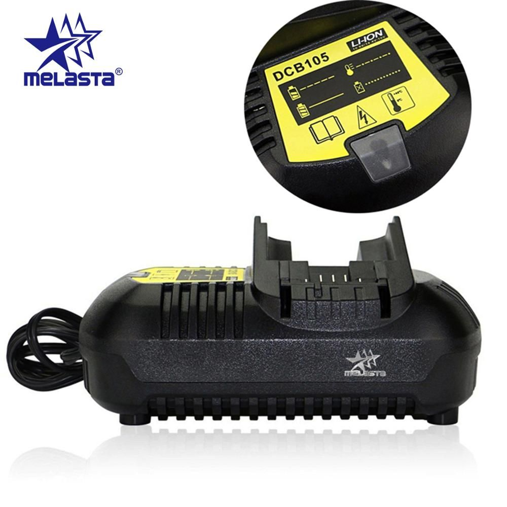 Melasta Fast Li-ion Battery Charger for Dewalt 10.8V 12V 14.4V 18V 20V DCB105 DCB101 DCB120 DCB115 DCB107 DCB140 with EU plug