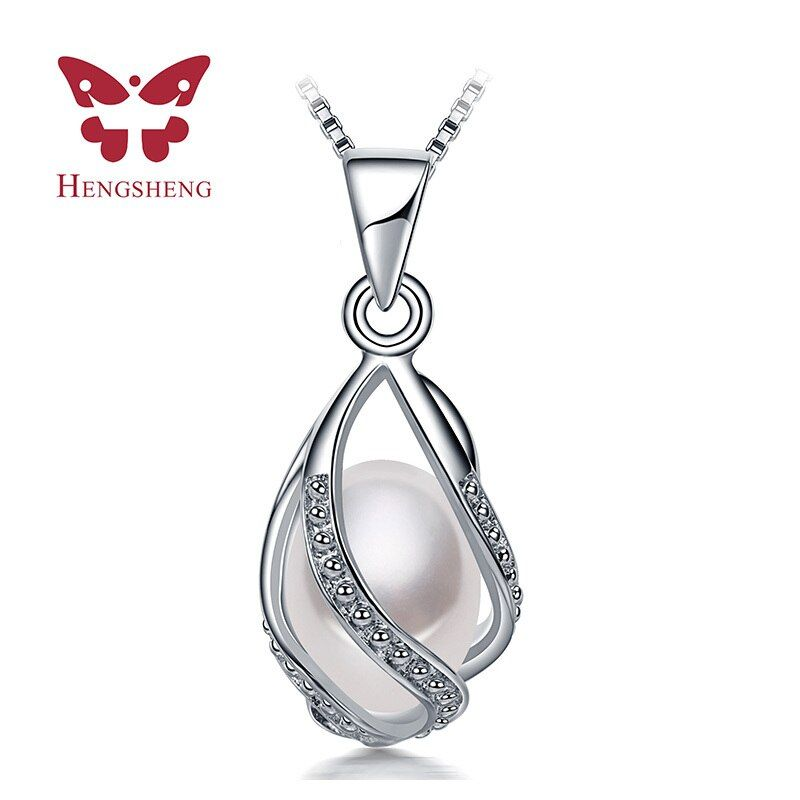 HENGSHENG Fine Elegant Women Natural Freshwater Pearl Pendant Jewelry With Rice Pearl Cross Punk Necklaces CC bijoux
