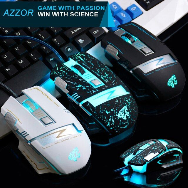 Wired K85 Usb Optical 3200DPI 6 Buttons Ergonomic Gaming Mouse Gamer For PC Laptop Computer Desktop 7 Colors LED Backlight New