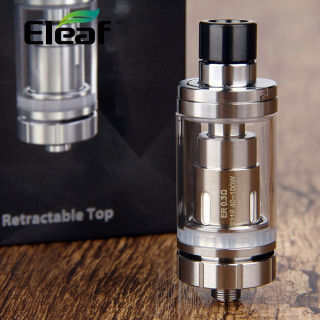 100% Original Eleaf Melo RT 22 Atomizer 3.8ml w/ New ER 0.3ohm Coil Head Top Filling Detachable Structure Tank Diametter 22mm
