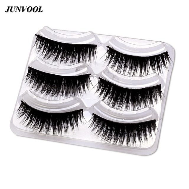 Women Ladies Makeup Thick False Eyelashes 15Pairs Eye Lashes Long Black Natural 3D Fake Eyelash Pure Handmade Makeup Beauty Tool