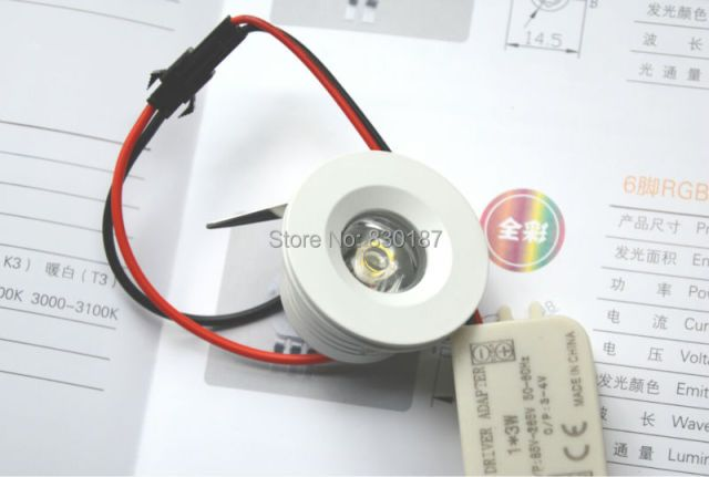 Dimmable Mini Spot Led Downlight 3W 110V 220V 4000K Led Spot Light Kitchen Cabinets Jewelry Lamp Black White Silver Gold
