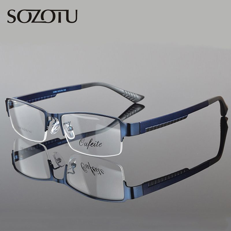 2016 Optical Eyeglasses Frame Men Spectacle Frame For Male Computer Eye Glasses Transparent Clear Lens Armacao  de YQ070