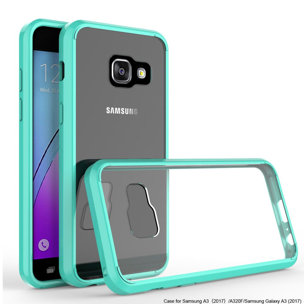 TPU Hard Back Acrylic Bumper Case Shockproof Slim Clear Cover For Samsung Galaxy A3 A5 J3 Emerge 2017 J1 Mini S7 Active S8 Plus@