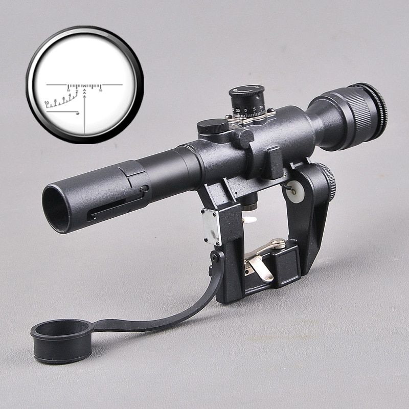 Optics Riflescope SVD Dragunov Tactical 4x26 Red Illuminated Rifle Scope Softair Red Dot Tactical Sight Rifle Scope Mounts