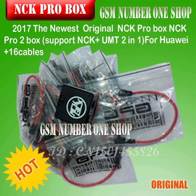 100% Original NCK Pro box NCK Pro 2 box (support NCK BOX + UMT BOX 2 in 1)For Huawei +16cables free shipping