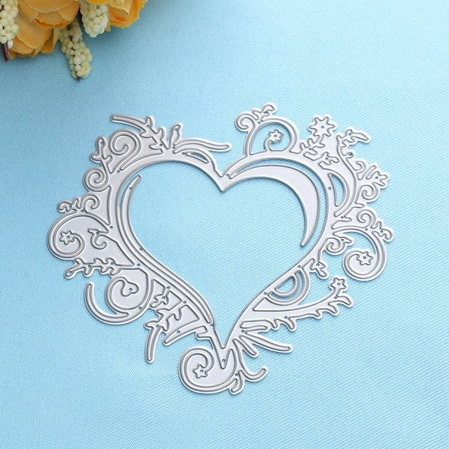 1 PC Die Cutter Stencil Cutting Dies For DIY Scrapbooking Album Decor Paper Ostrich Heart Love Starfish DIY Decoration 18 Styles