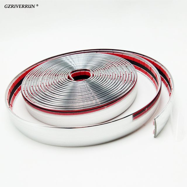GZRIVERRUN NEW 5m x 20mm Car Chrome Trim Styling Decoration Moulding Side Strip Gille 16ft Truck SUV