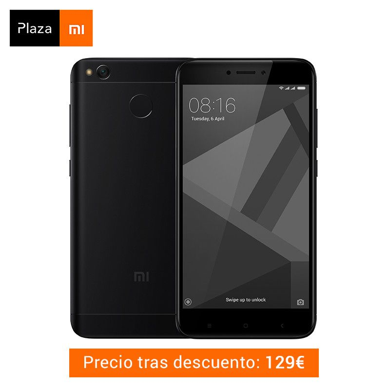 Spanish Version Xiaomi Redmi 4X Smartphone 3GB RAM 32GB Snapdragon 435 Octa Core CPU Adreno 505 GPU 4100mAh 13MP Camera MIUI 9