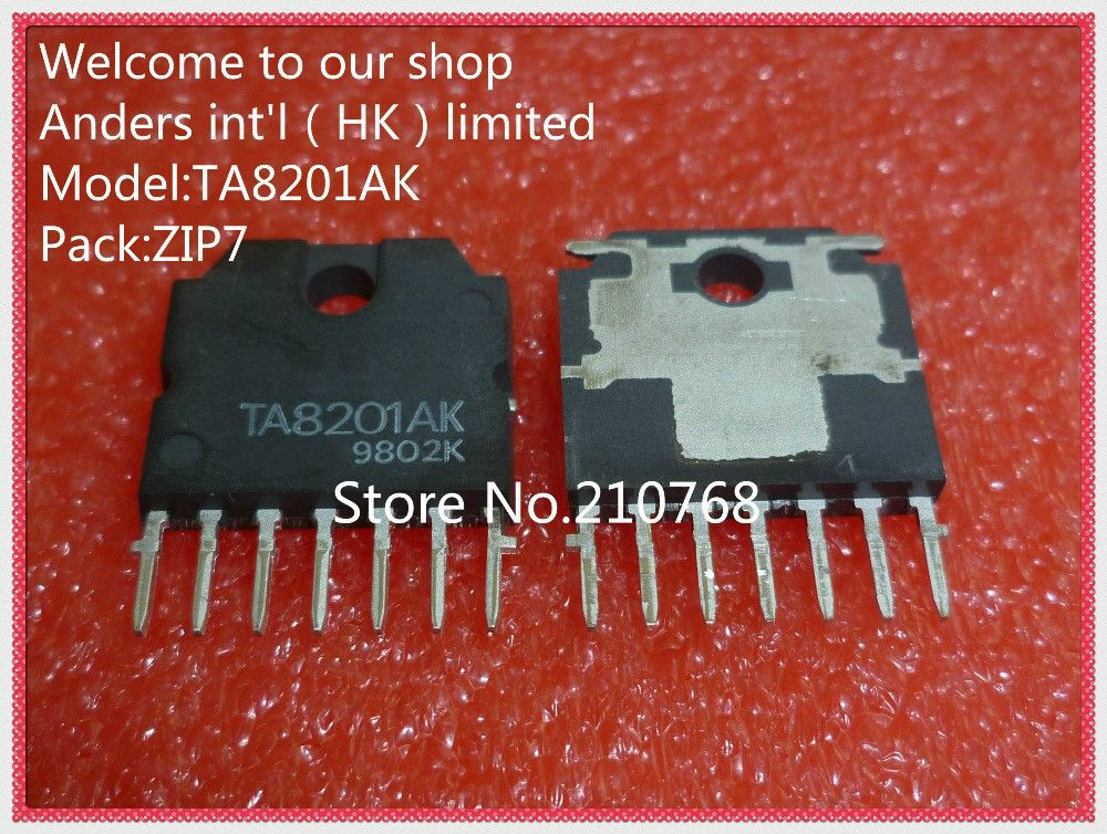 10pcs/lot       TA8201AK       TA8201A       TA8201        ZIP7