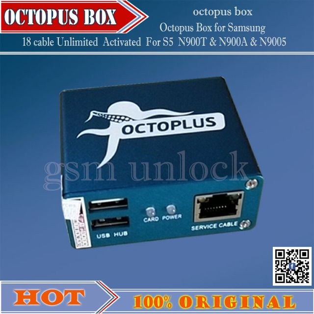 gsmjustoncct 100% Original Octopus box for Samsung imei repair unlock with 18 cables