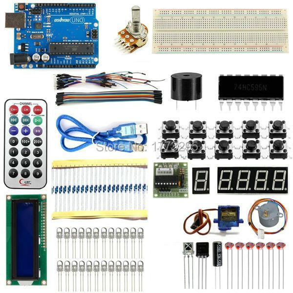 Brand New Advanced Version Starter Kit the RFID learn Suite Kit LCD 1602 for Arduino UNO R3 Free Shipping