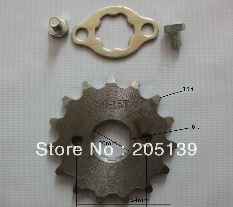 Dirt bike pitbike 15 tooth 20MM FRONT ENGINES sprocket FOR 420 CHAIN motorcycle moto pit bike ATV parts