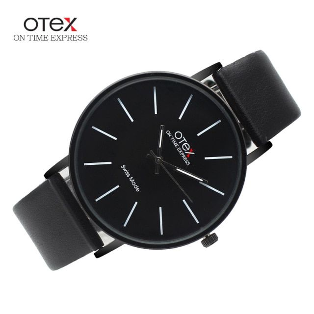 Top Brand luxury OTEX Fashion Business Quartz Watches Men Leather Waterproof Wristwatches Men Watch Relogios Masculino