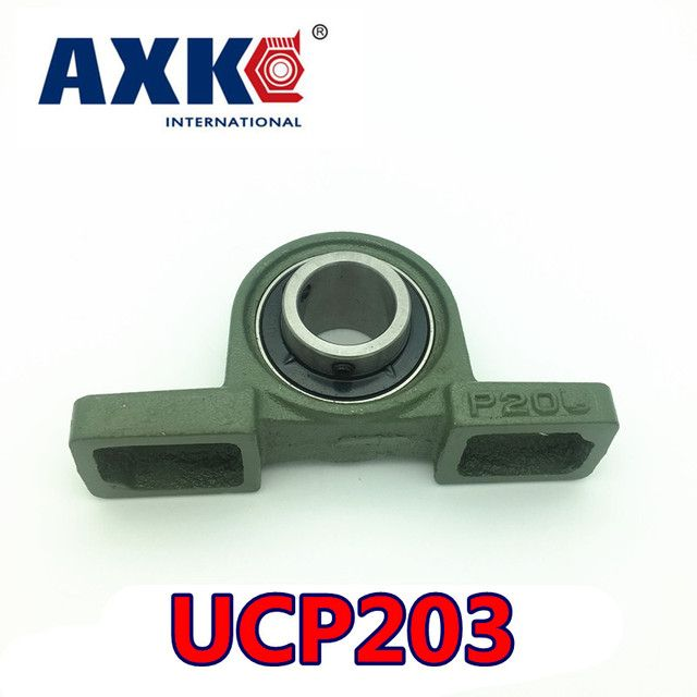 2019 Hot Sale Sale Steel Rolamentos Rodamientos Axk Ucp203 17mm Pillow Block Bearing With Housing 1pce