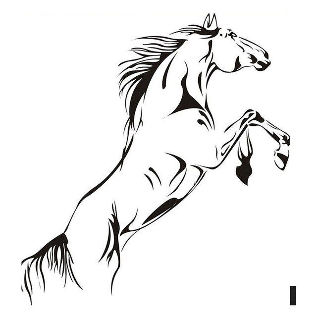 New PVC Material Wall Paper Jumping Horse Wall Art Stickers Vinyl Decal Stylish Home Graphics Lounge Bedroom Wall Sticker