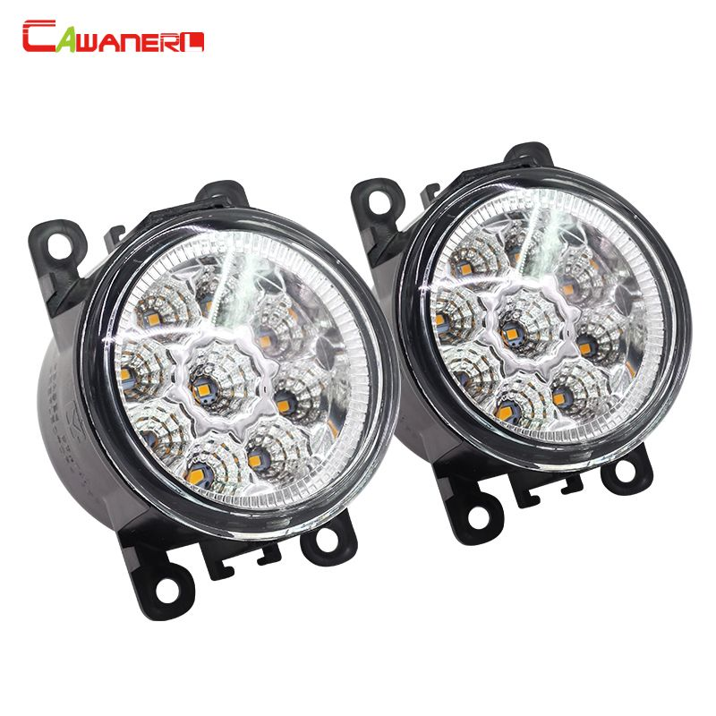 Cawanerl For Fiat Punto Evo Sedici 500L Car Styling LED Lamp Daytime Running Light DRL Fog Light 12V Blue White Orange 1 Pair