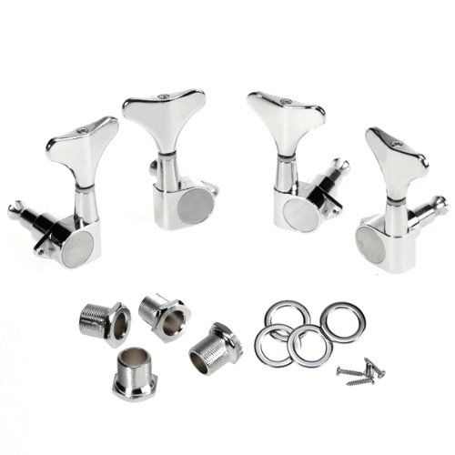 SEWS Chrome Sealed Bass Tuning Pegs Tuners Machine Heads 2L + 2R