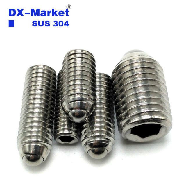 m6*8-25mm , sus 304 Stainless Steel Ball Point Set Screws , m6 Ball Spring Plunger bolt , set bolt fasteners