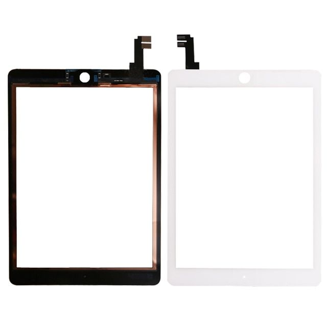 Tested well  Replacement For iPad Air 2 2nd Gen Generation A1567 A1566 White Touch Screen Digitizer Glass Lens