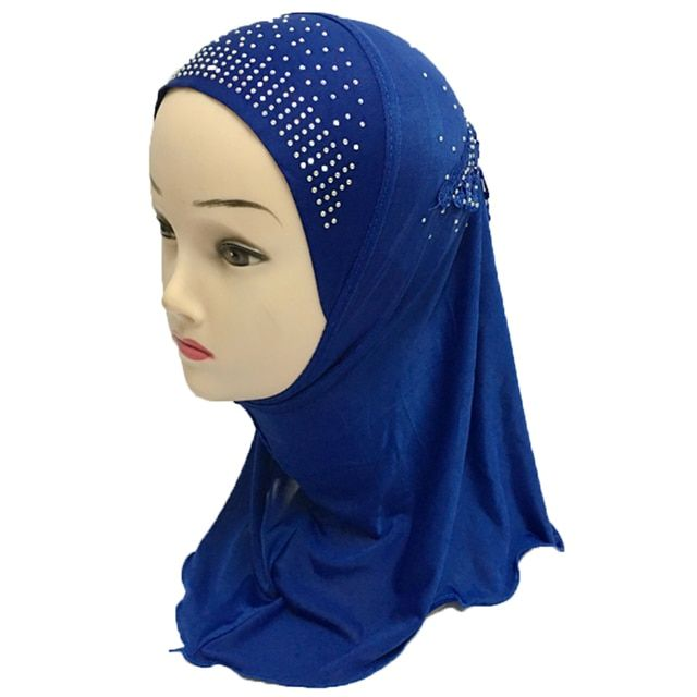 12 Pieces Girls Kids Muslim Beautiful Hijab Islamic Arab Scarf Shawls Flower Pattern Wholesale for 3 to 8 years old Girls