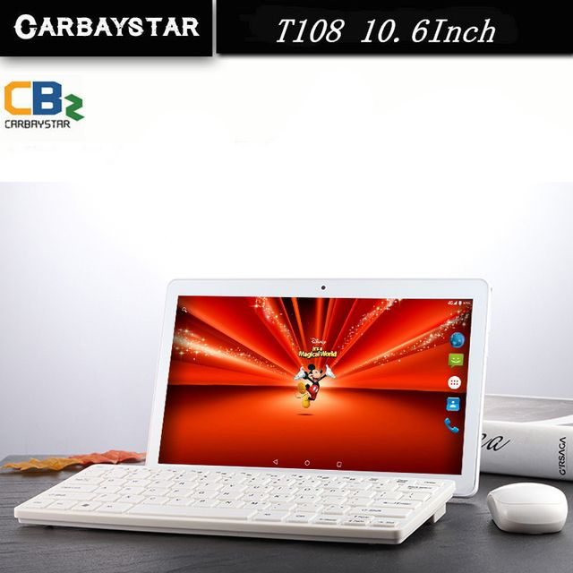Hot sell 10.6 inch Octa Core Smart android tablet pc 1366*768 IPS screen Tablet phone call Android 6.0 Tablet computer T108 10.6