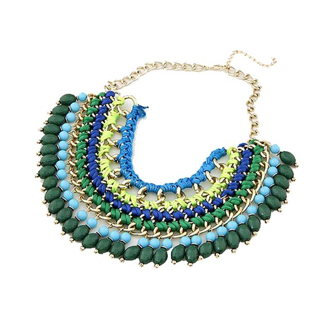 bohemian necklace women 2016 bijoux ethnic statement necklace fashion jewelry za necklaces & pendants collier homme