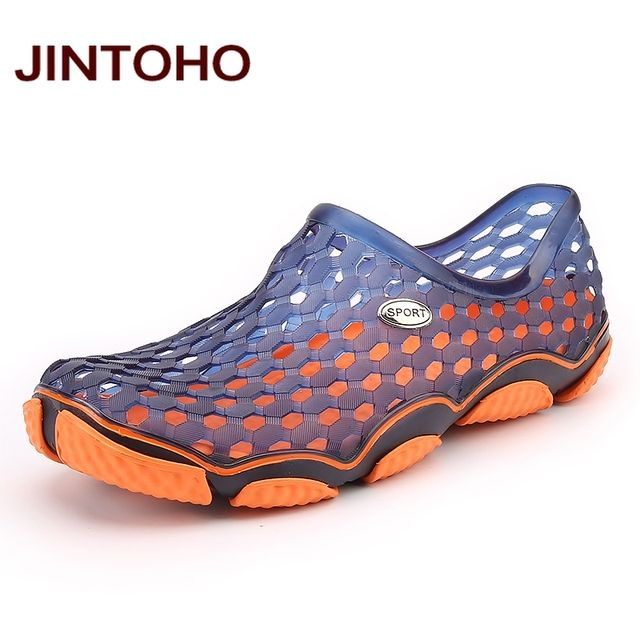 JINTOHO Unisex Sandals Summer Beach Shoes Fashion Water Shoes Breathable Aqua Shoes Plastic Sandals Beach Men Shoes