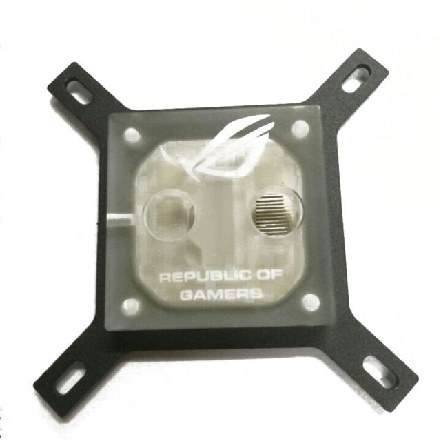 CPU Water Cooling Block Copper Base Waterblock Liquid Cooler for PC Intel acrylic or Black ROM New