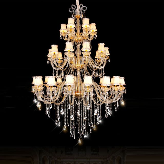 three layer Large Chandelier Lighting for hotel k9 crystal chandeliers bedroom lamp dining room crystal chandelier light  indoor