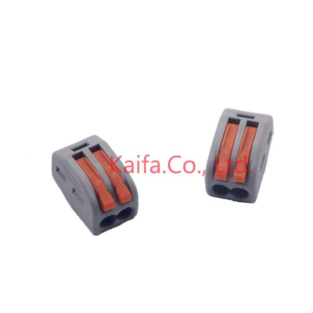 Wago Type(30pcs/lot) 222-412(PCT212) Universal Compact Wire Wiring Connector 2p Conductor Terminal Block With Lever 0.08-2.5mm2