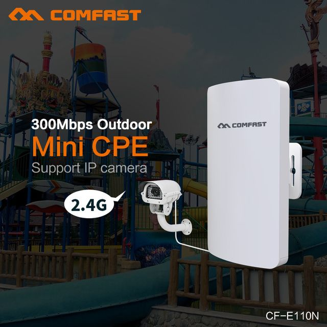 COMFAST mini outdoor wireless cpe CF-E110N 300Mbps wifi extender repeater antenna for remote wifi signal transmission/receiving