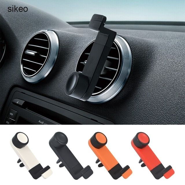 sikeo Universal Car Phone Holder Air Vent Mount GPS Stand 360 Adjustable Mobile Phone Holder For iPhone 5 6 Plus Samsung S6 HTC