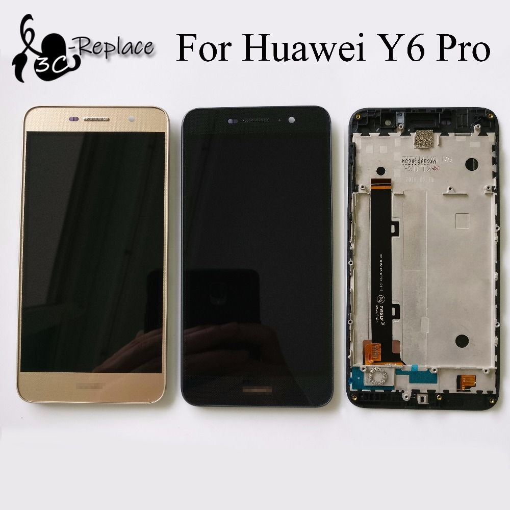 "LCD+TP 5.0"" For Huawei Y6Pro Y6 Pro TIT-U02 TIT-AL00 LCD Display + Touch Screen Digitizer With Frame Smartphone Replacement"