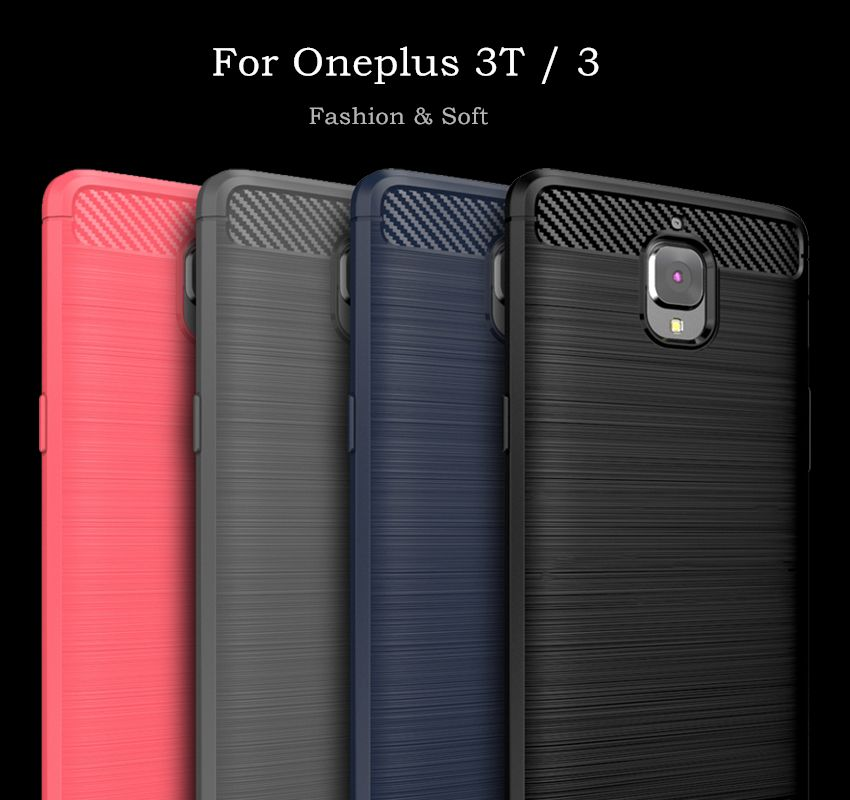 For OnePlus 3t Case Oneplus 3 Cover Soft Silicone WolfRule Brushed Style Case For Oneplus 3T Cover One plus 3 Three Phone Bag