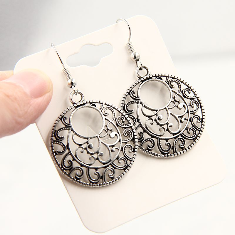 Bohemia Tibet Jewelry Tibetan Silver Vintage Carving Retro earrings for women 2018 earings  indian jewelry  C287