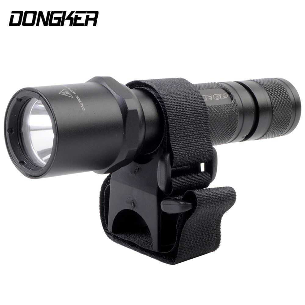 Nylon Flashlight Tactical Mount Light Clip Bicycle Universal Quick Release Loop&Hook Attachable Hunting Rifle Gun Rail Bracket
