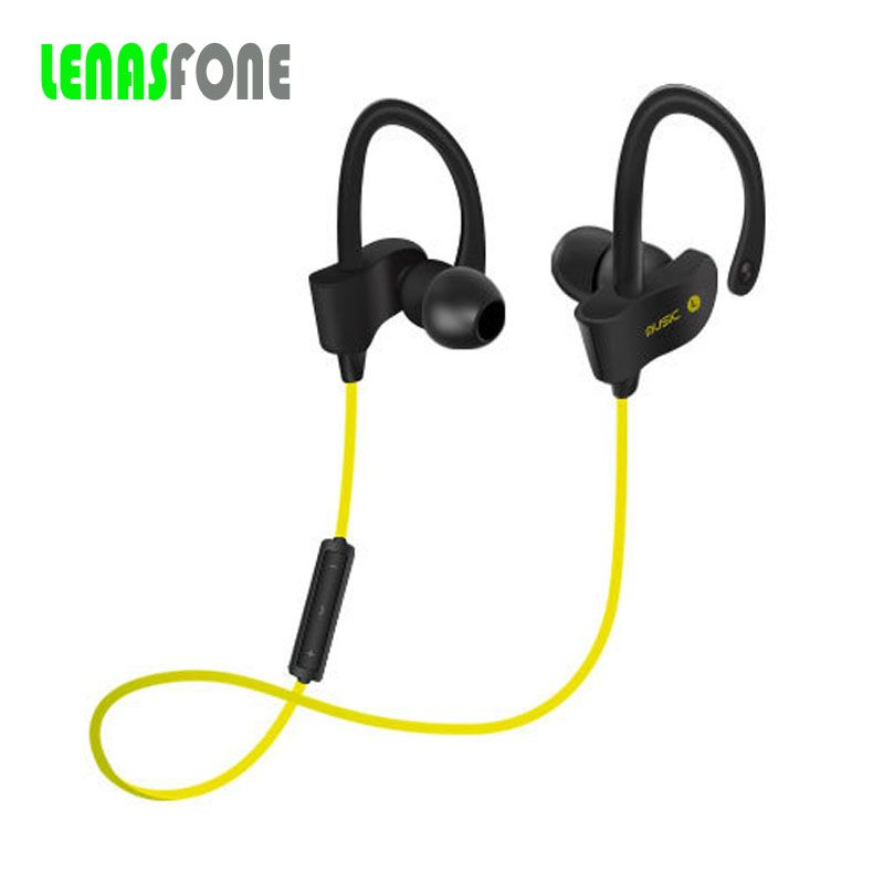 Bluetooth Earphone With Microphone Ear Hook Earbuds In-Ear Sport Running Wireless Headset 4.1 Stereo Bass For Smart Phone