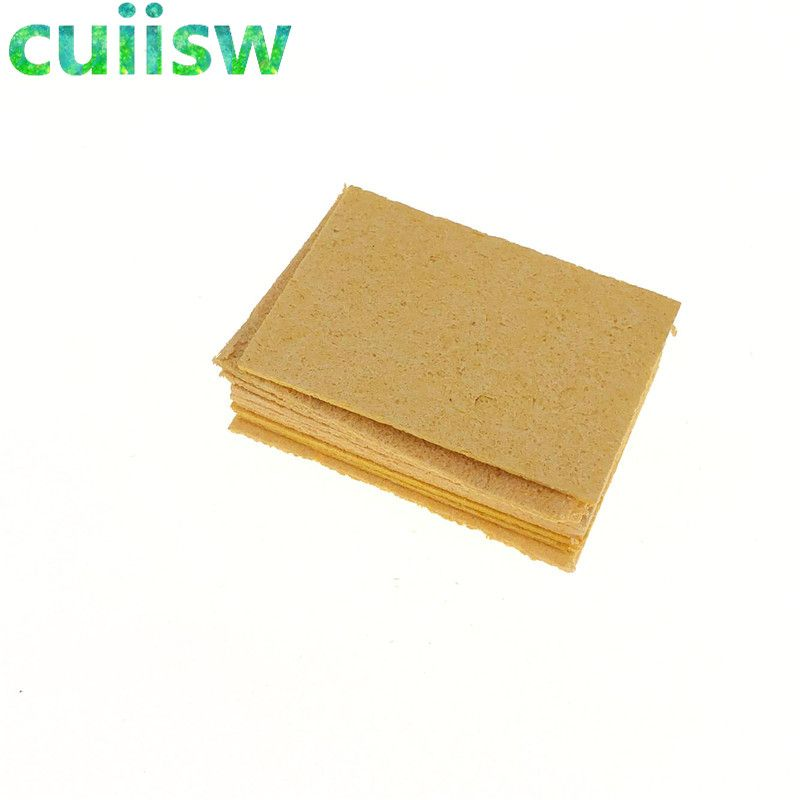 10pcs Replacement Sponges Soldering Iron Cleaner Solder Tip Cleaning Pad Cleaning Sponge Yellow