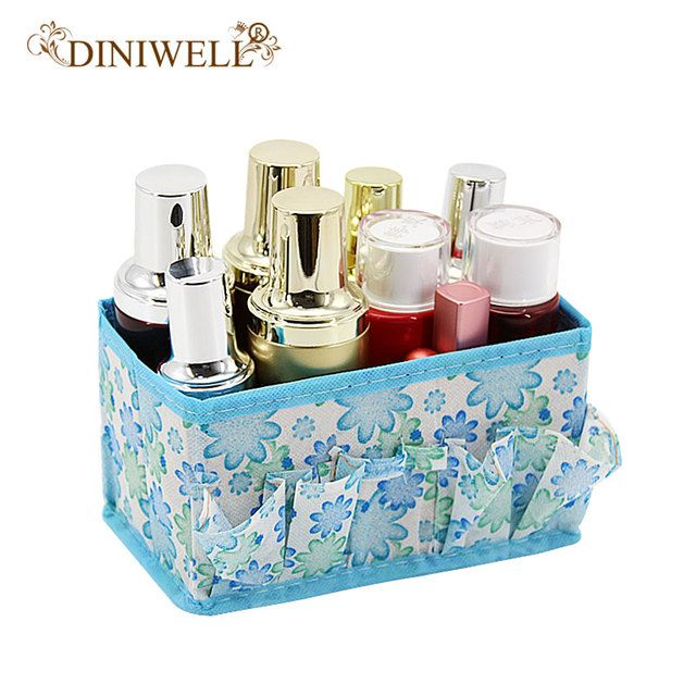 DINIWELL Home Office Desktop Multifunction Folding Makeup Cosmetics Zakka Storage Box Container Case Stuff Organizer 5 Colors